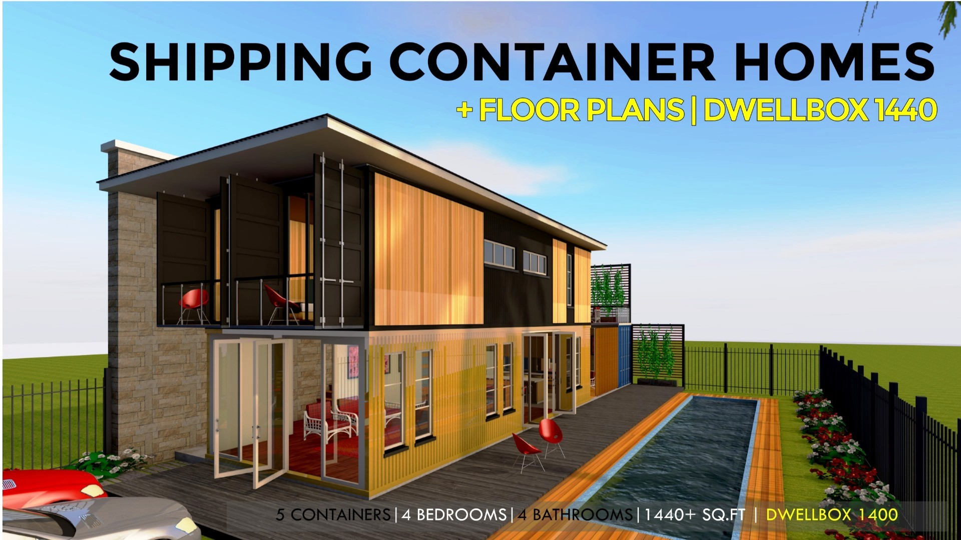 Modern Shipping Container Home dwellbox 1400 | id. s24501400 | 4 beds | 5 baths | 1400+sft.|