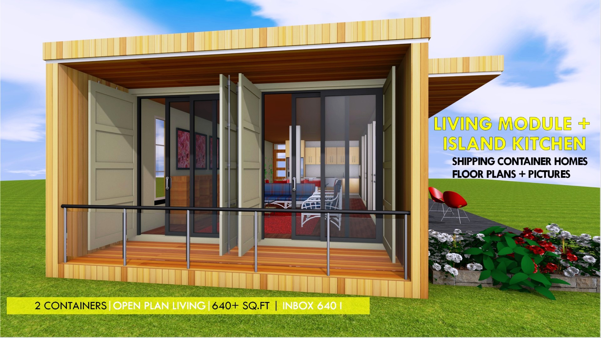 Shipping Container 3 Bedroom Bungalow