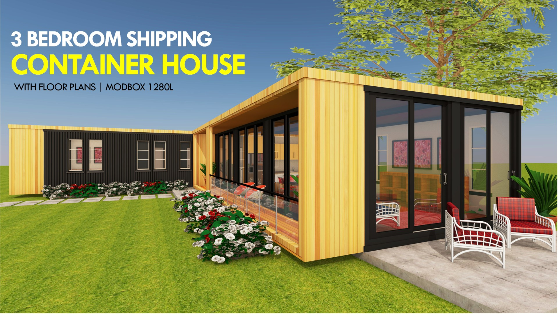 Modern Shipping Container Home modbox 1280l | id. s13201280l | 3 bed | 2 baths | 1280+sft.|
