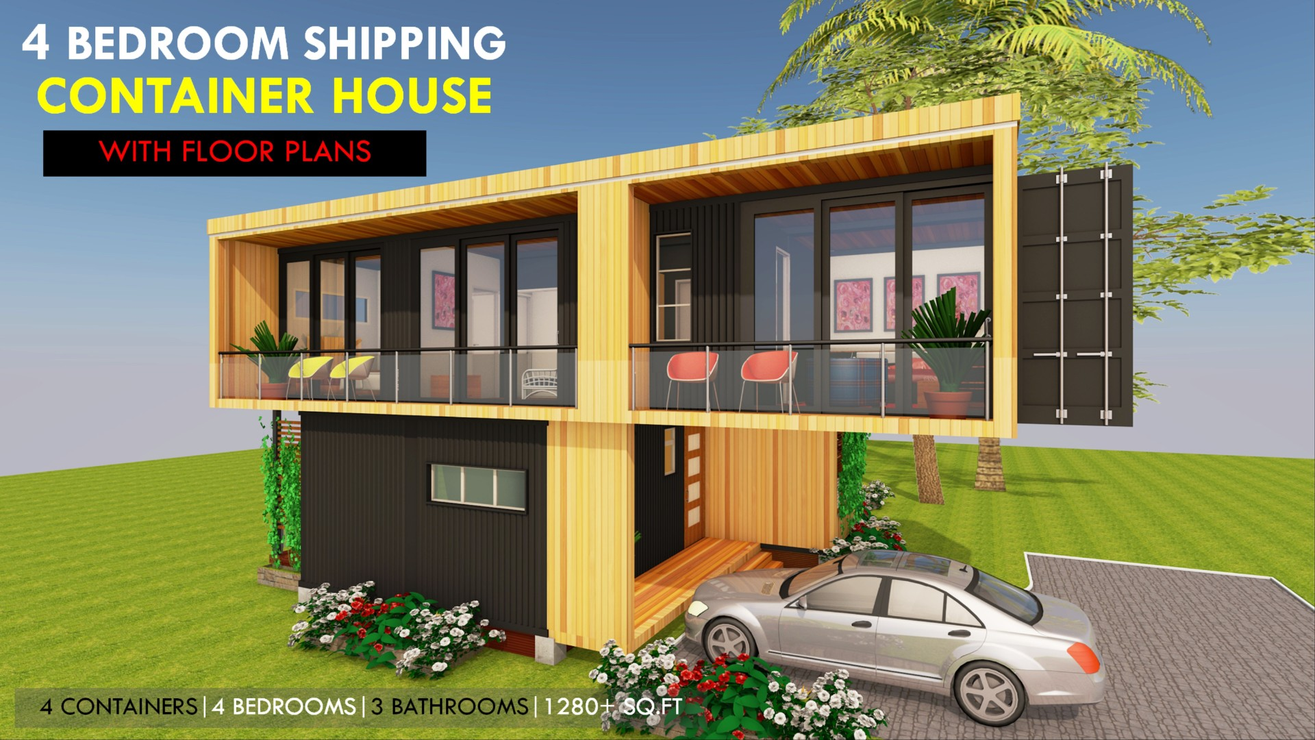 Modbox 1280 Crossbox Modern Shipping Container Homes Plans