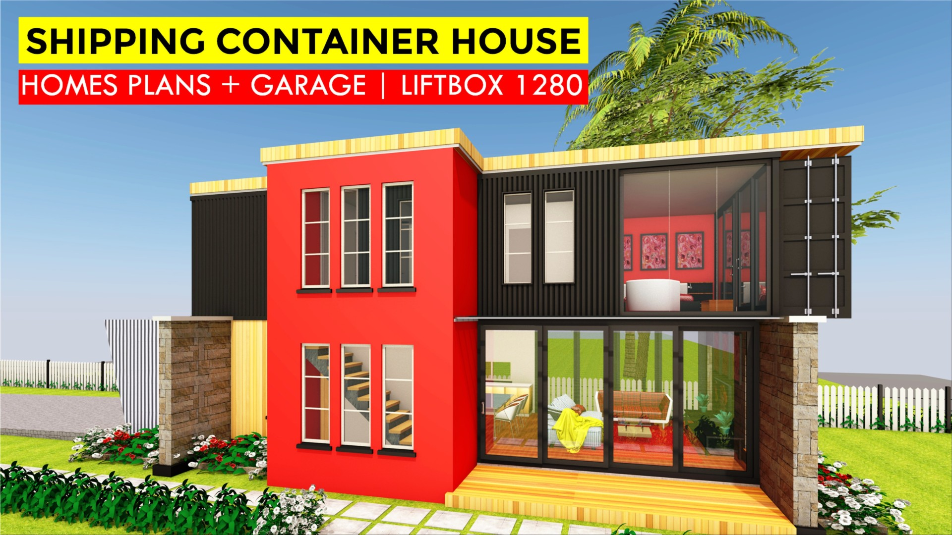 Modern Shipping Container Home liftbox 1280 | id. s23321280 | 3 beds | 3 baths | 1280+sft.|