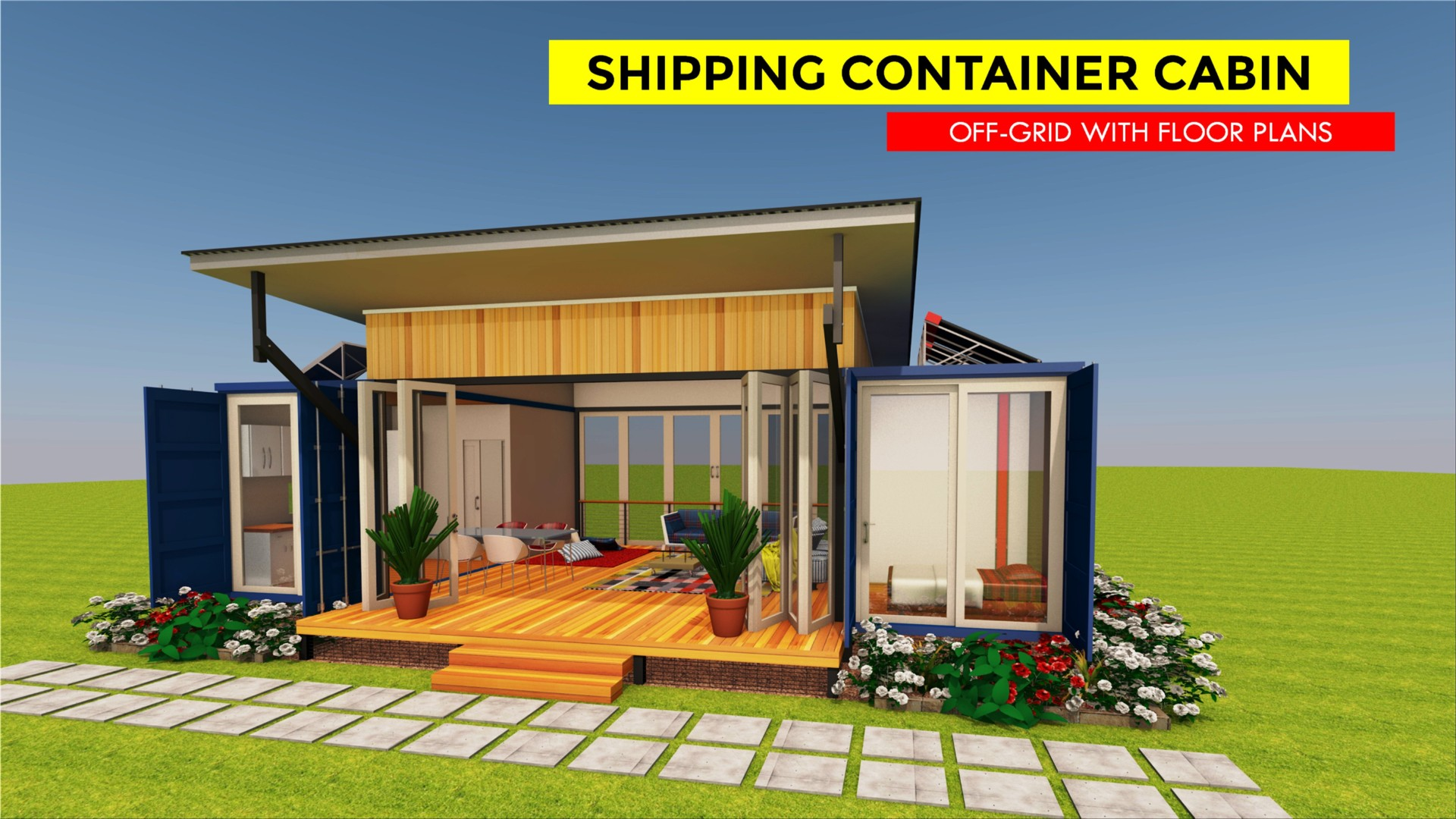CABINBOX 2X20 | Modern Shipping Container Homes Plans