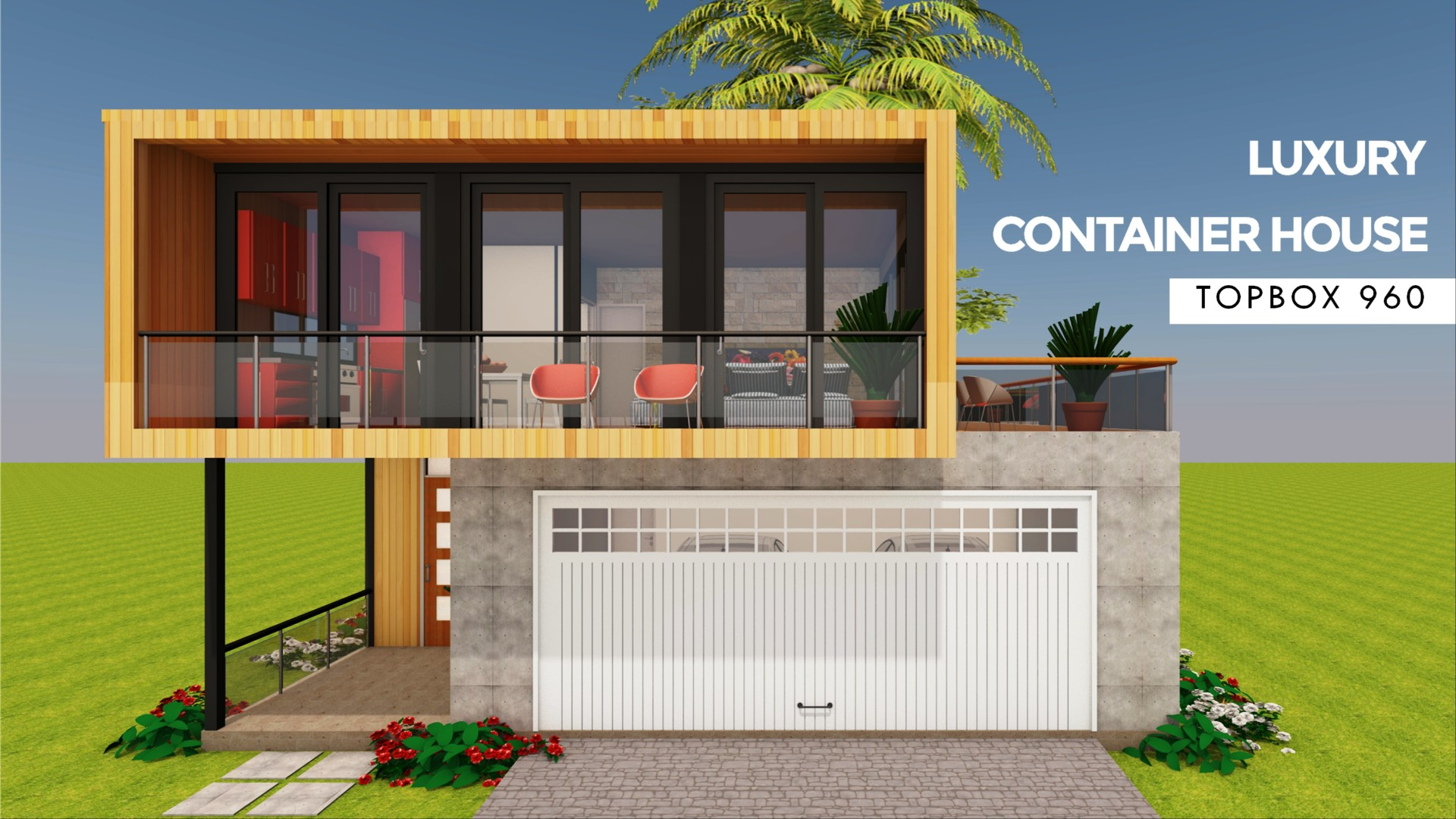 Modern Shipping Container Home topbox 960 | id. s2432960 | 4 beds | 3 baths | 960+sft.|