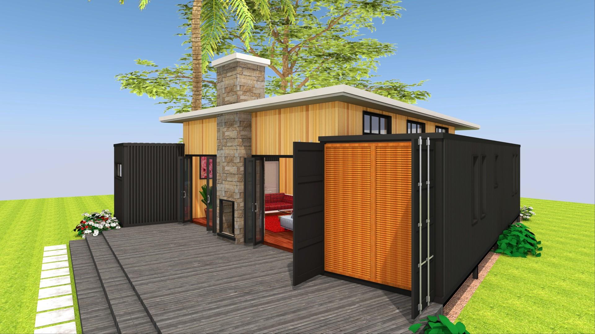 Modern Container House Design + Floor Plans | SADDLEBOX 640