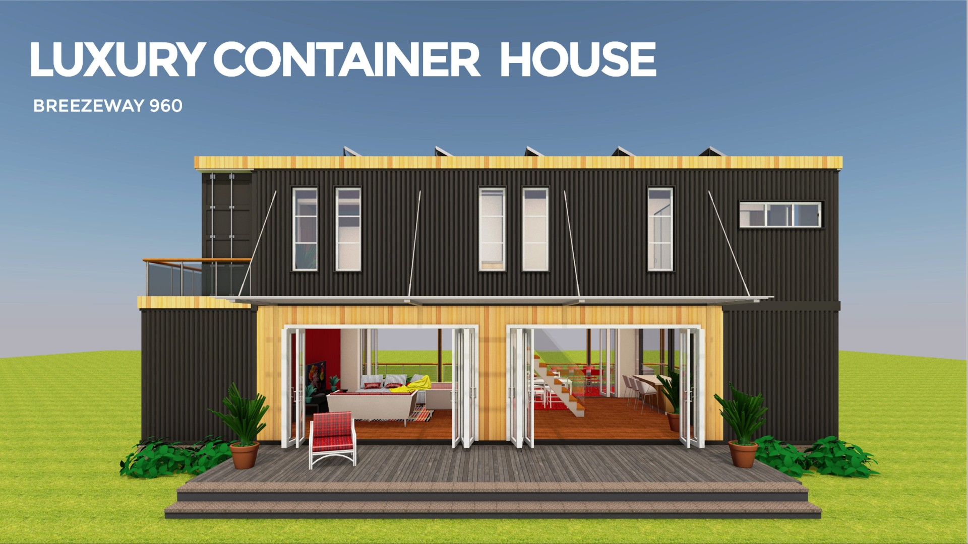 BREEZEWAY 960 | Modern Shipping Container Homes Plans