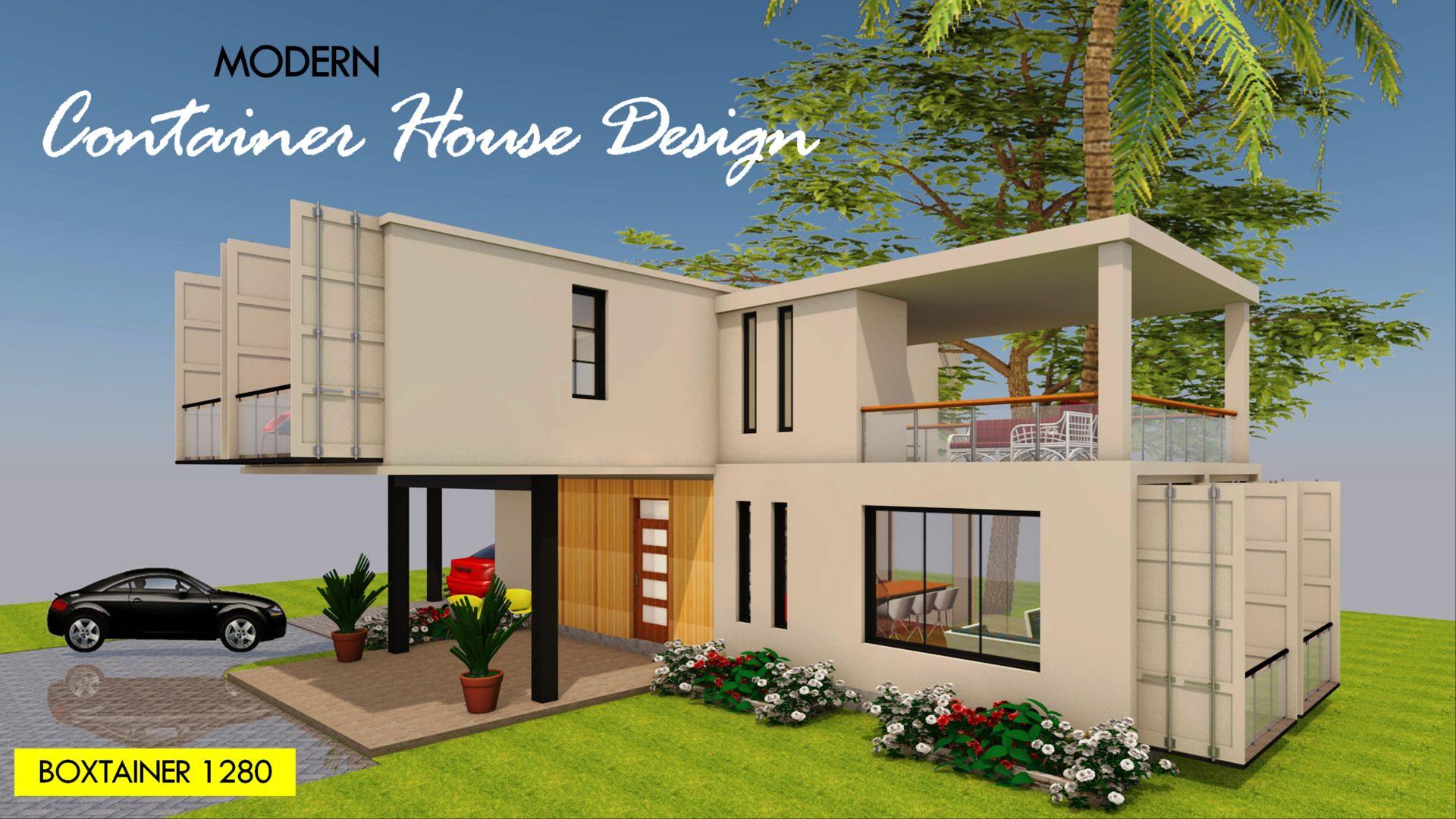 Modern Shipping Container Home boxtainer 1280x | id. s24311280x | 4 beds | 3 baths | 1280+sft.|
