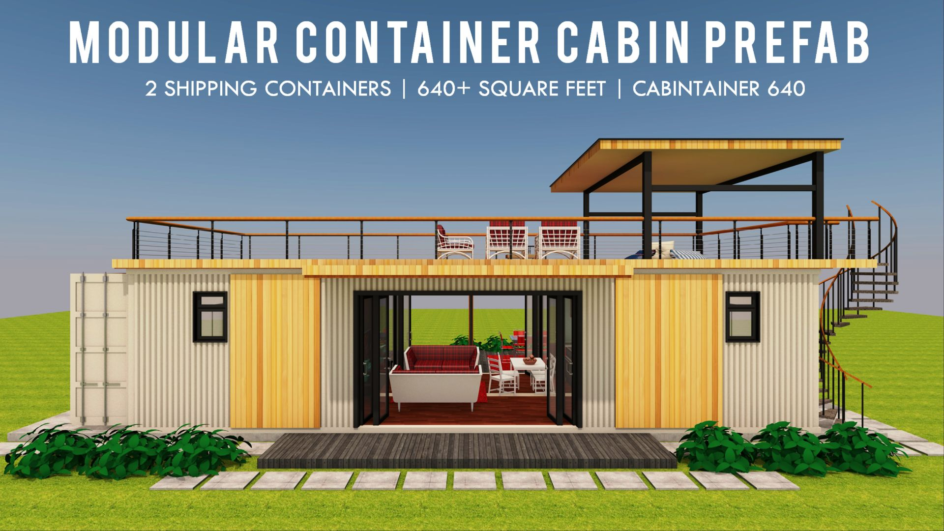 Cabintainer 640 Modern Shipping Container Homes Plans