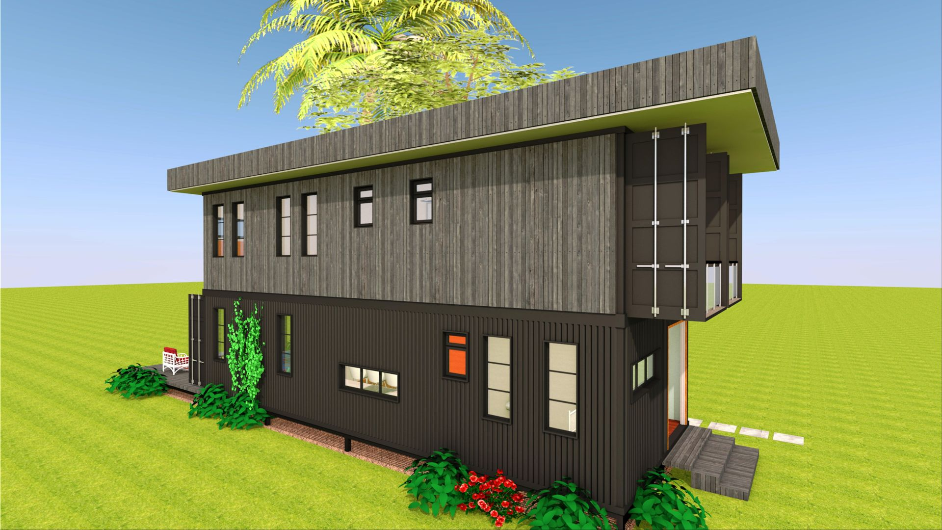 Shipping Container House Design Floor